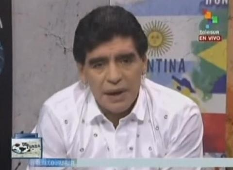 News video: Diego Maradona Shows Argentine FA Chief Julio Grondona the Finger on Live TV