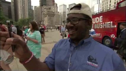News video: Vegas Takes Over Chicago Landmarks